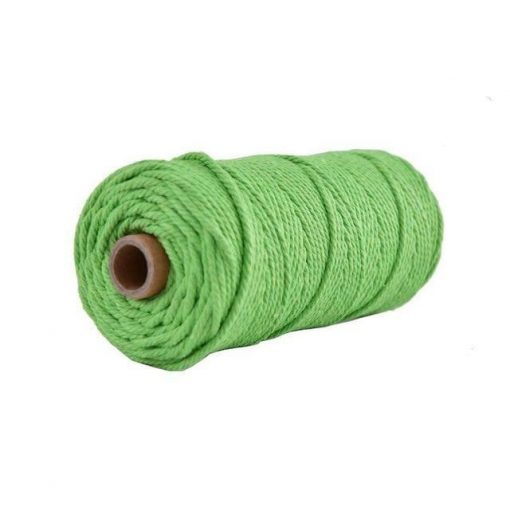 Macramé cord 3mm of 100m color Fluo Green